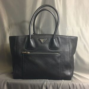 Prada Large Black Tote with Shoulder Strap New